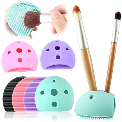Silicone Makeup Brush Cleaner Washing Scrubber Board Cleaning Mat Hand Tool UK
