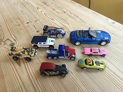 8 small toy model diecast cars various