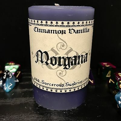Morgana inspired small scented candle - wicca, goth, paga, witchcraft !sale!