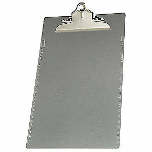 ABILITY ONE Clipboard,Aluminum,Legal File Size, 7520-01-439-3398, Silver