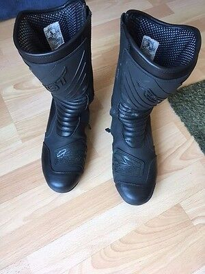 RST black breathable waterproof motorcycle boots size 10