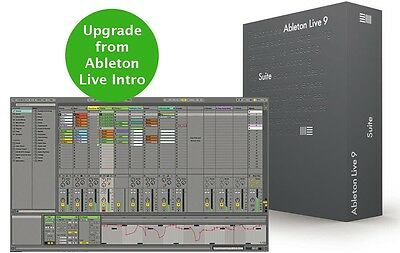 ABLETON LIVE 9 SUITE UPGRADE FROM INTRO WITH INTRO INCLUDED (licence transfer)