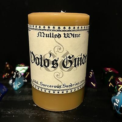 Volo's Guide (D&D inspired) scented candle - mulled wine !sale!
