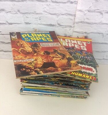 Large Job Lot Of Vintage 1970's Planet Of The Apes Comic Books No 1-107.