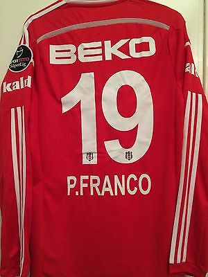 Match Worn Shirt Besiktas Player İssued P.Franco Colombia Football Calcio Adidas
