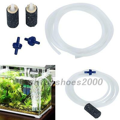 Kit Accessoires Aquarium Tube + Pierres À Air + Soupapes D'Air