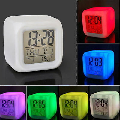 New Digital Alarm LED Clock Snooze Light Control Backlight Time Calendar Date