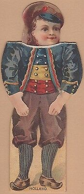 Die-cut Victorian Paper Doll-Merrick Thread Products-Boy from Holland
