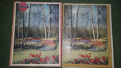 VINTAGE PONDA WOODEN JIGSAW PUZZLE - A3a SERIES - 154 PIECES - GARDEN - VICTORY