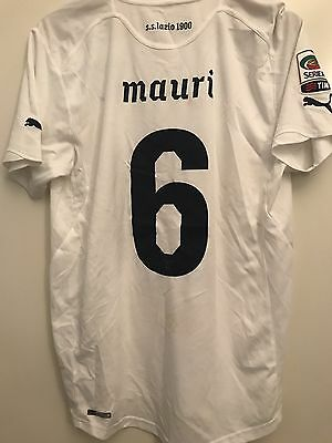 Match Worn Shirt Lazio Player Issued Away Mauri Maglia Calcio Puma