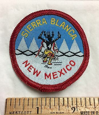 Sierra Blanca New Mexico Ski Apache Skiing Souvenir Patch