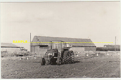 Burton Coggles 1977 Real Photo Tractor working on Camp Farm, nr Bourne