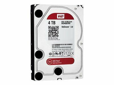 "Western Digital Red 4TB WD40EFRX Intern 5400RPM NAS 8.9 cm(3.5"")SATA 6Gb/s 64MB"