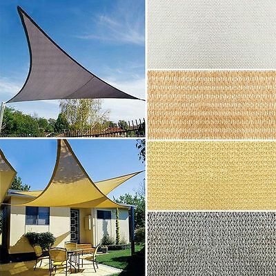 Hot Sun Shade Sail Eco-friendly UV Canopy Awning Casual Mesh With D Ring/ Parts