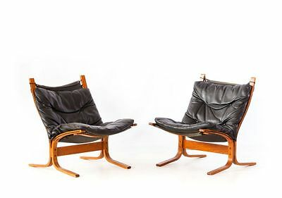 Original Ingmar Relling / Westnofa- Siesta Chair  Schwarz Leder Black Leather