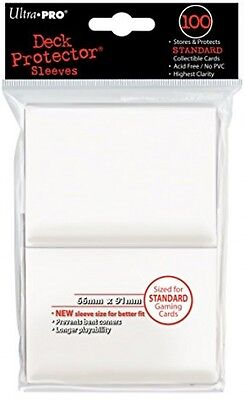 Ultra Pro SLEEVES Solid 100 Card Game (White)