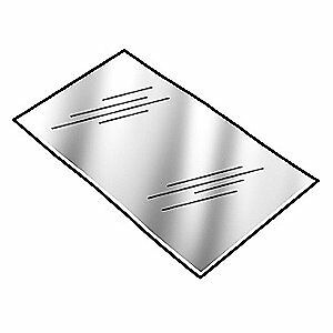 PRECISION BRAND Shim Stock,Sheet,PVC,0.0150 In,Pink,PK10, 44555, Pink