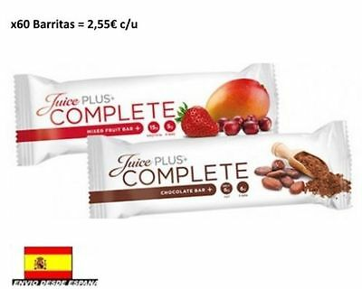 Juice Plus+ complete Barritas Bars x60 Barritas Chocolate o Fruits. DESDE ESPAÑA
