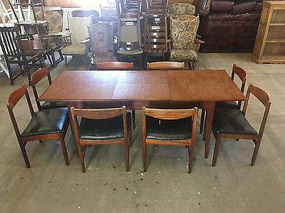 Mcintosh Teak Table And 8 Chairs Midcentury Danish Style 1950's 1960's
