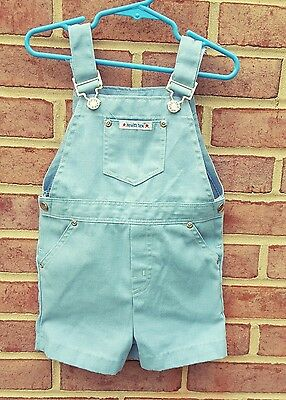 Vintage Health-tex denim shorts overalls light blue size 4 years