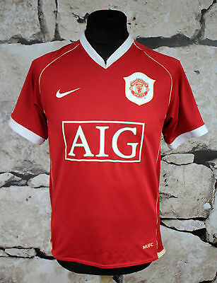 NIKE Manchester United Football Shirt 2006/2007 Home _ SIZE S_ (459)