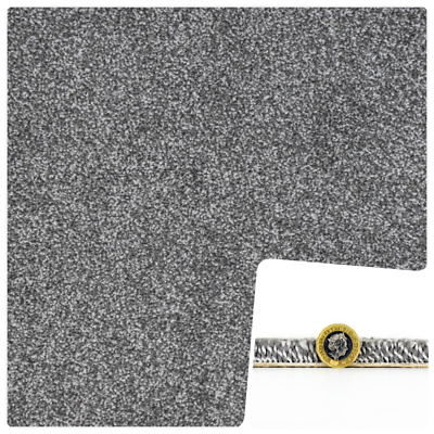 Super SOFT 15mm THICK SILVER - GREY Saxony 6m x 4m Carpet Remnant *FREE DELIVERY