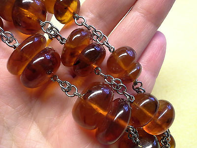 Chunky   Baltic Amber  Necklace, Vintage Soviet, Ussr