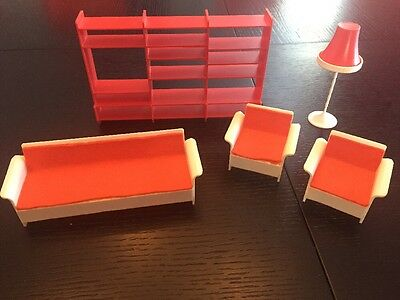 Vintage Dawn Doll Furniture Set Living Room Couch Chairs