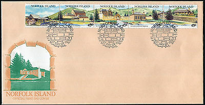 NORFOLK ISLAND 1993 Tourism, Historic Kingston, SET OF 5, USED FIRST DAY COVER