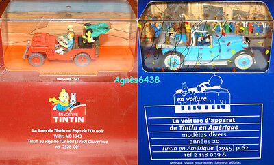 Tintin Voiture Lot De 2 Editions Atlas Collection En Voiture Tintin