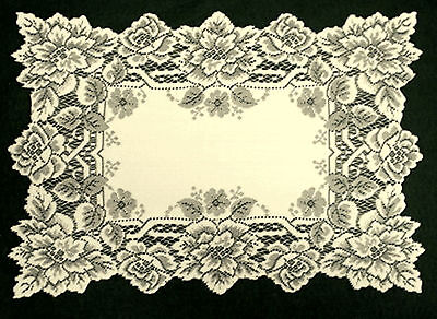 Placemats Heirloom Set of (4) 14x20 Ivory Lace Placemats Heritage Lace