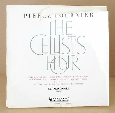 Columbia 33CX 1606 1st B/g ~ VG- ~ FOURNIER ~ The Cellist's Hour ~ With audio!
