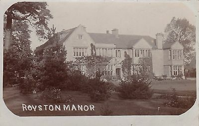 Royston Manor, Country House, Nottinghamshire. Rp, C1920.
