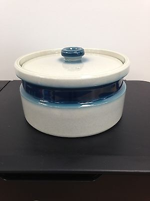 "Wedgwood Blue Pacific 8 1/2"" Round Lidded Casserole Dish ."