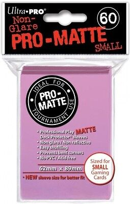 Ultra Pro Deck Protector - 60 Pro-Matte Pink Small Size Sleeves - Japanese Size