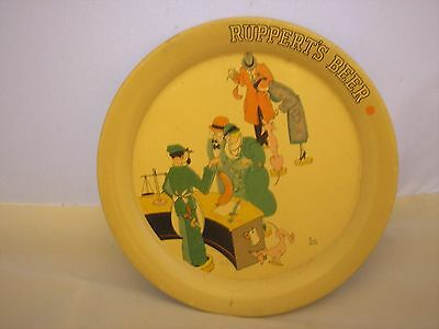 Vintage Ruppert's  Beer Metal Tip Tray, Very Good Condition