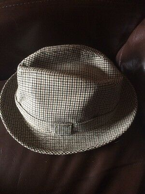 Great Vintage Dunn & Co Great Britain Tweed Trilby Size 6 3/4