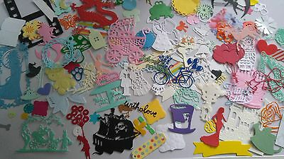 CRAFT CLEAROUT MIX OF 50 CARD/PAPER DIE CUTS /PUNCHIES sizzix,t lace  +