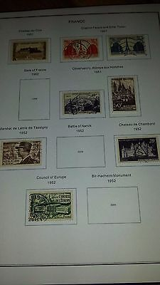 More than 300  stamps from France 1950-1970 - some nice finds