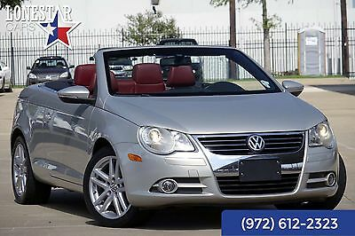 2010 Volkswagen Eos LUX Clean Carfax Leather 2010 Silver LUX Clean Carfax Leather Convertible Automatic