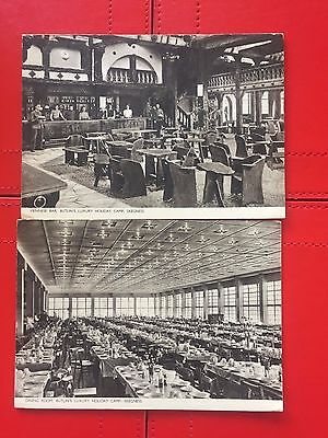 Early Butlins Holiday Camp Skegness 2 Xpostcard Viennese Bar staff & Dining Room