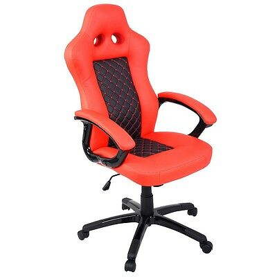Office Gaming Chair High Back Race Car Style Bucket Seat New