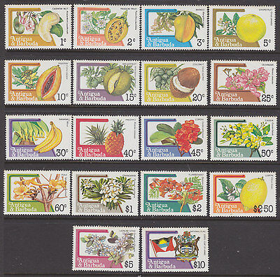 Antigua 1983 Fruit and Flowers set um-mint slight toning on some stamps