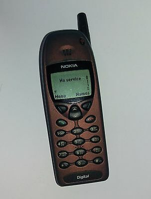 Vintage Nokia 6120i Classic Mobile Phone retro working good condition red/blue