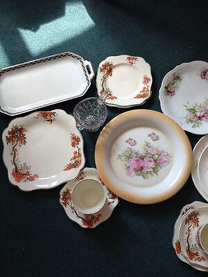 Pre-owned Vintage Mismatched Plates/cups