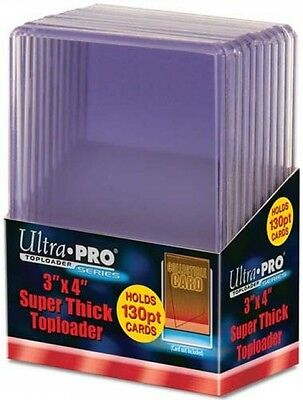 Ultra Pro Toploaders (10) Fits Up To 130pt (5mm Thick) Cards