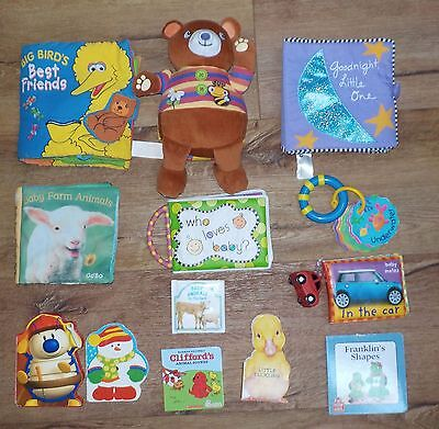 Cloth & Board Book Lot 13 Infant Baby Toddler Early Reading
