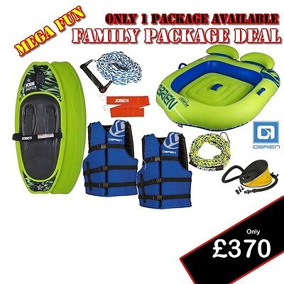 Speedboat Jetski PWC  Kneeboard, 2 Vests Shuttle 2Man Ringo inflatable ONLY £370