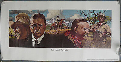 Vintage Winchester Man of Action Model 94 Rifle,Theodore Roosevelt Print Poster
