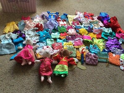 angelina ballerina 3x plush toys + lots of clothes